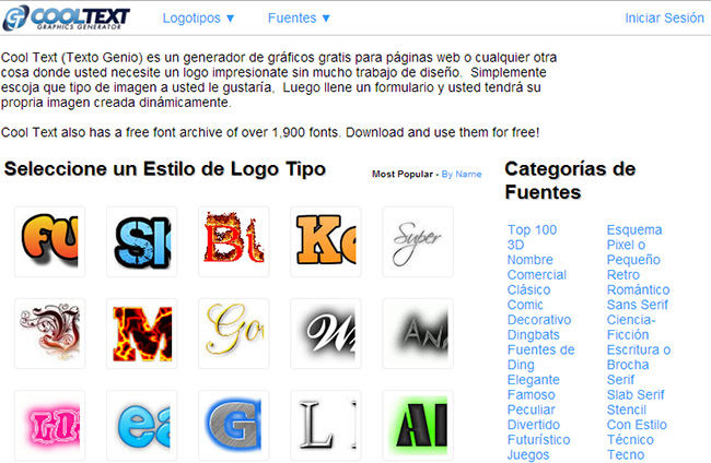 Cool text crear logos online gratis for Paginas para hacer logotipos